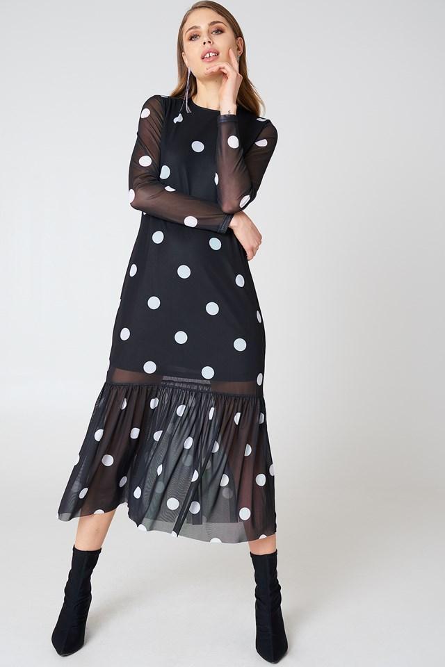 Long Dot Dress NA-KD.COM