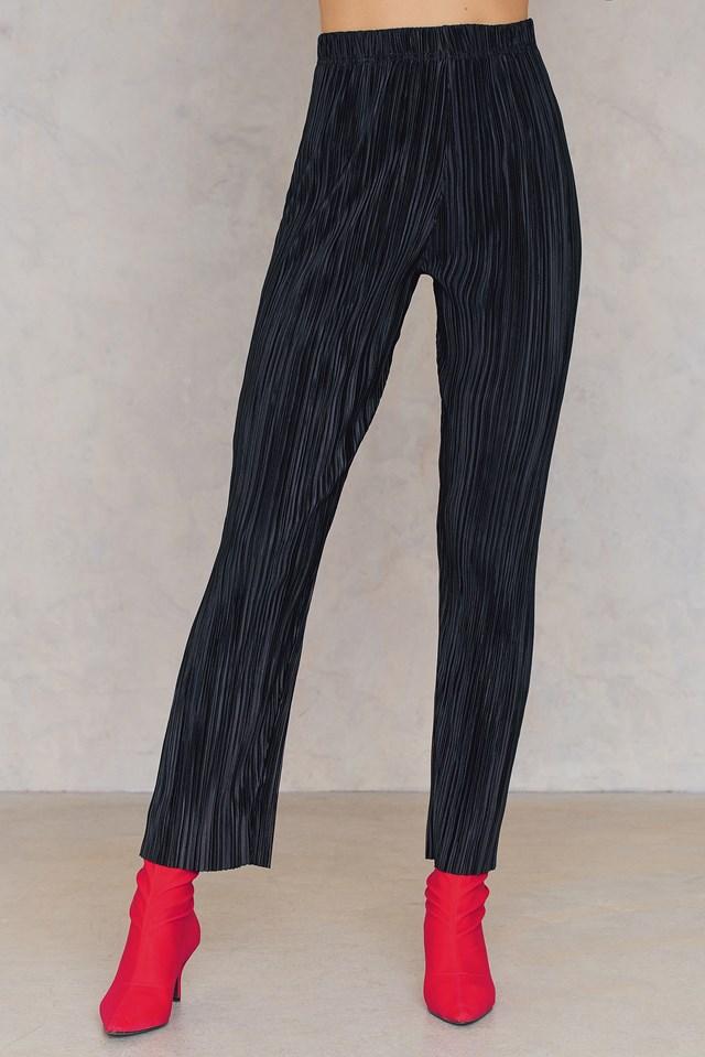 Pleated Pant Black