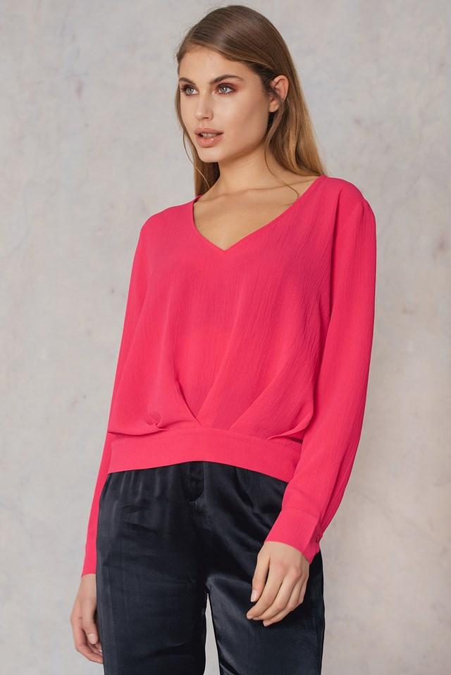 V-neck Blouse Pink