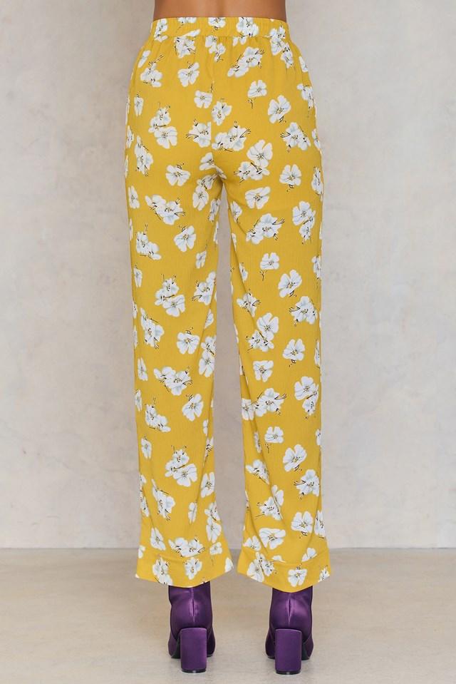 Yell Flower Pant Yellow