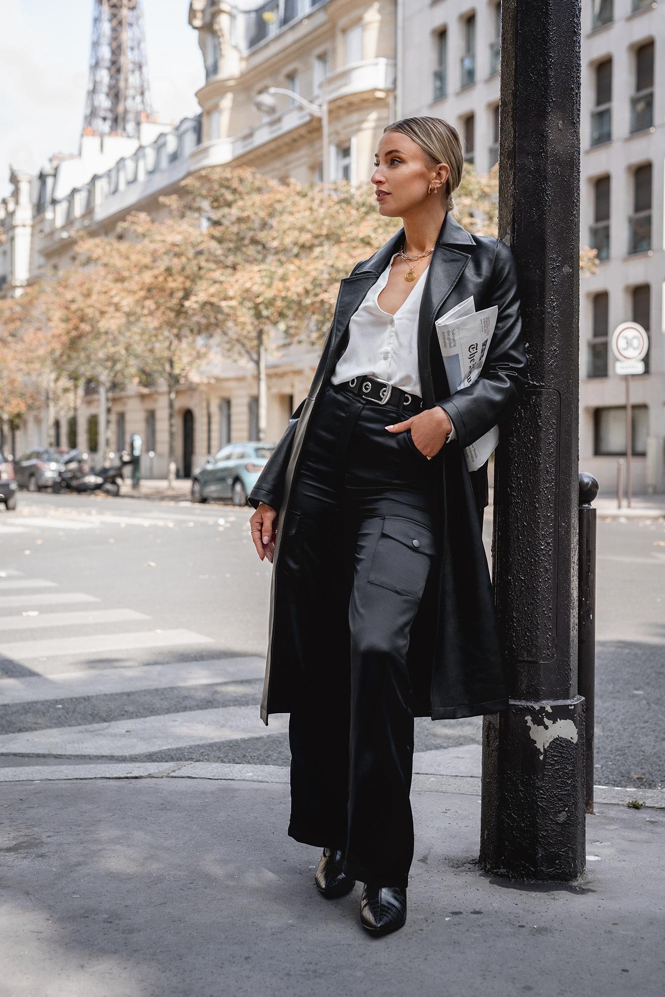 Queen Of Jetlags X Na-kd Belted Pu Coat Black