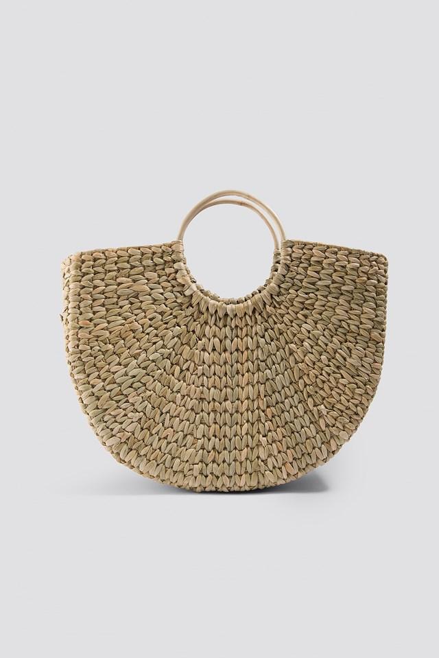 Raffia Basket Bag Natural