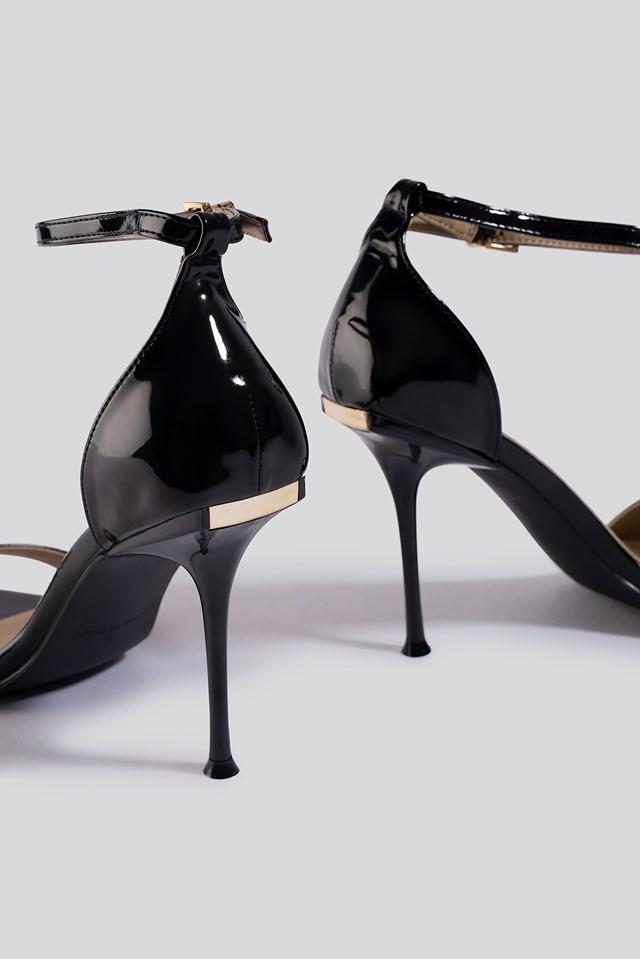Avalyn Sandal Black Patent