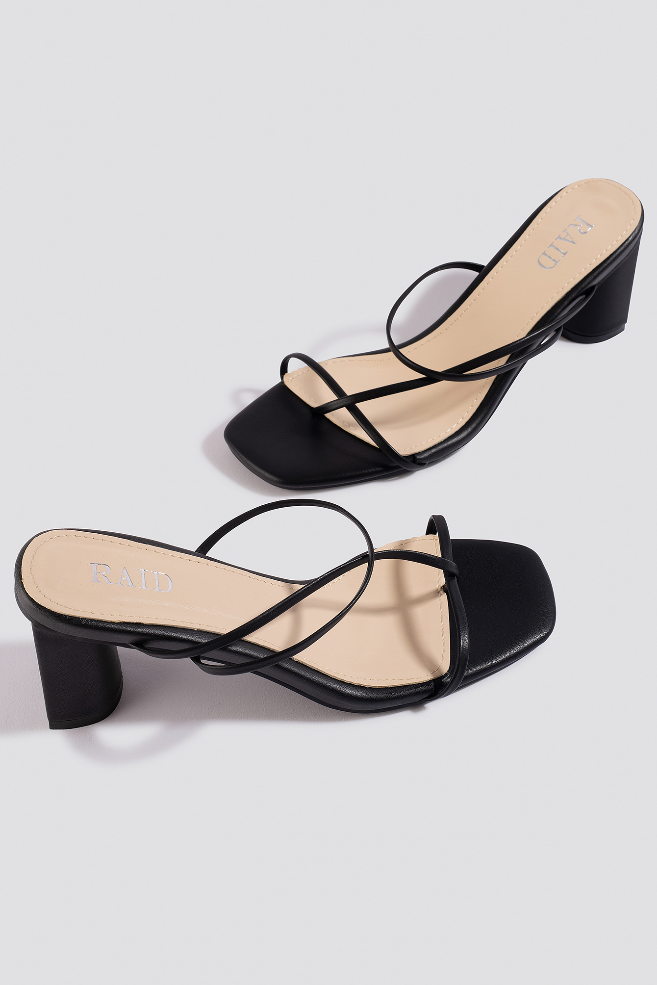Black PU Brioni Sandals