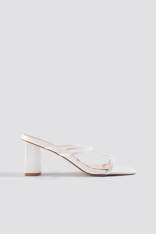 Brioni Sandals White PU