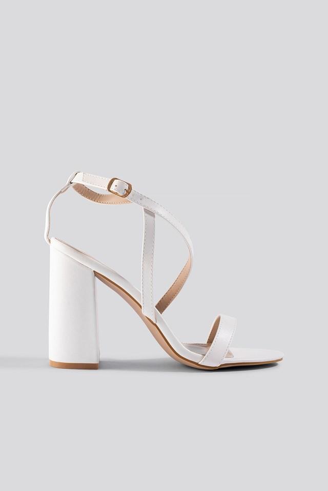 Egypt Strap Sandal White PU