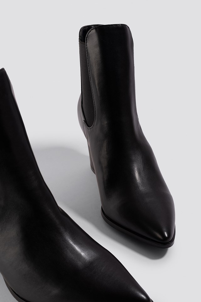 Erin Ankle Boot Black PU