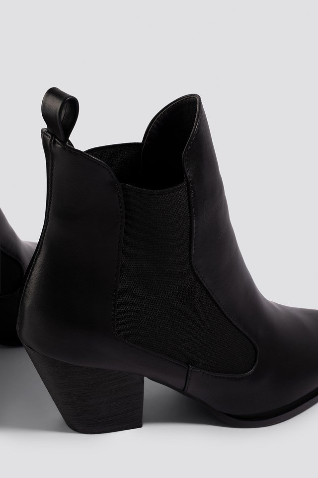 Flick Ankle Boot Black PU