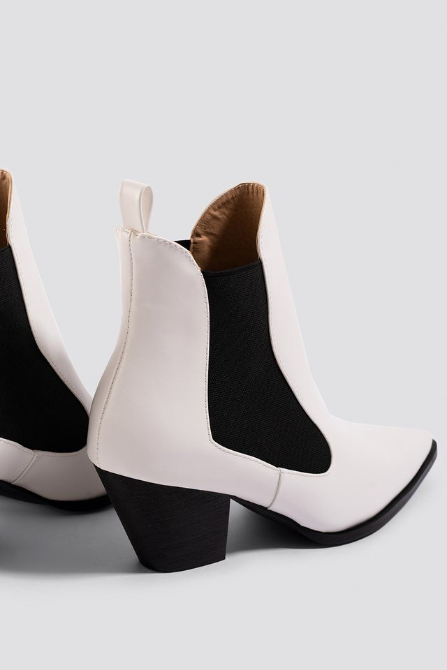 Flick Ankle Boot White PU