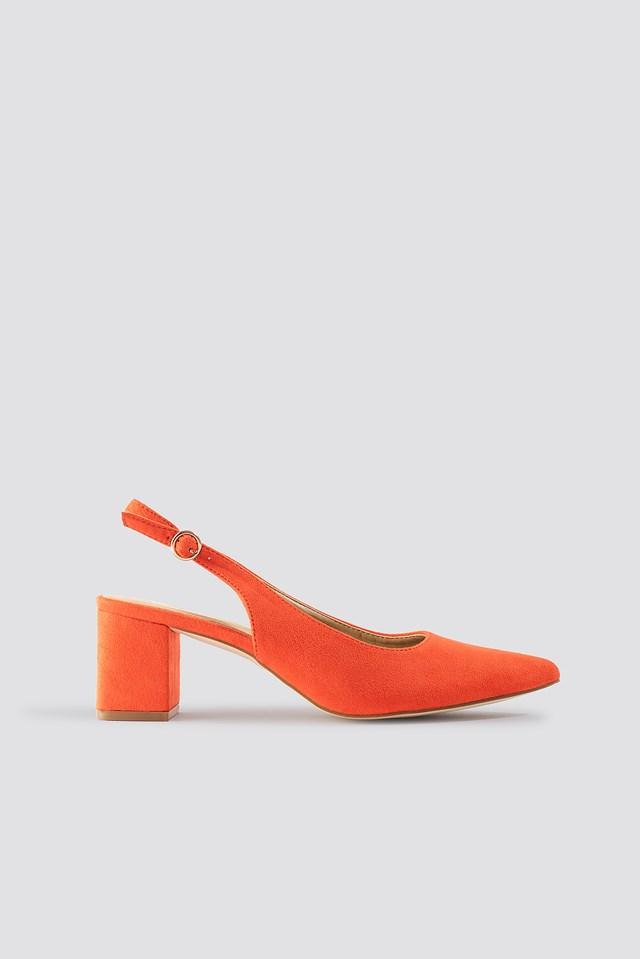 Jemima Court Heel Tangerine
