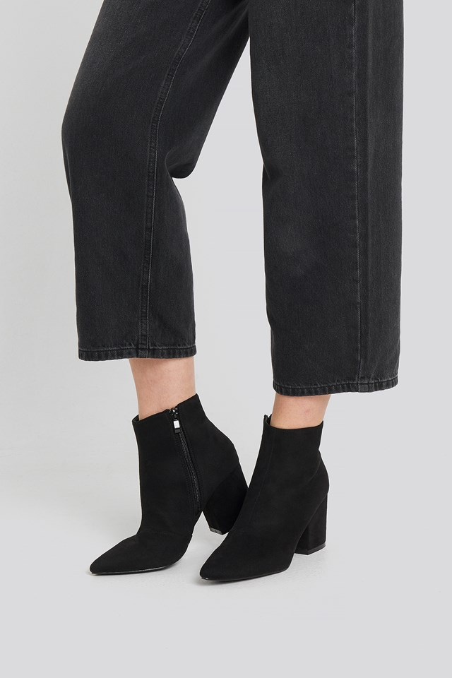 Kola Ankle Boot Black Suede