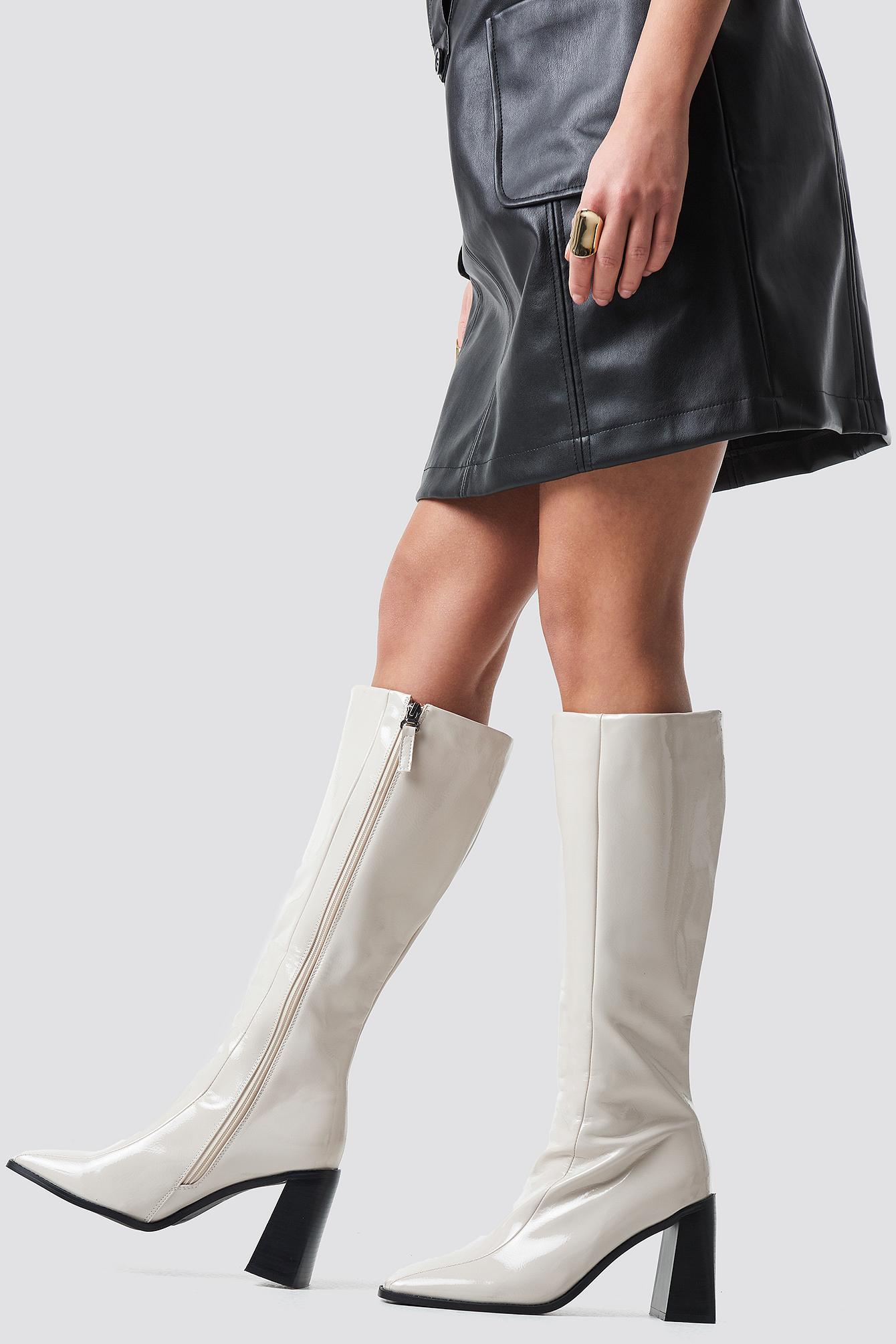 raid -  Lenore Long Boot - White