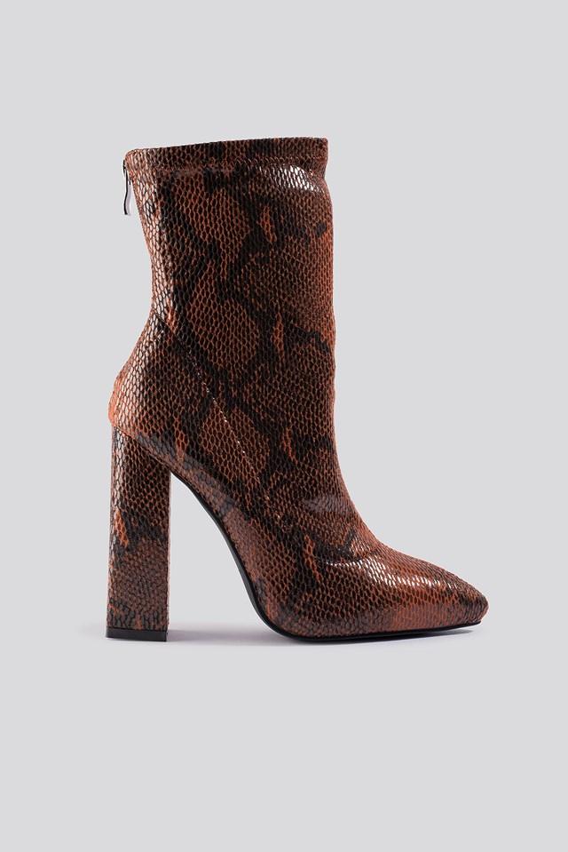 Sasha-1 Ankle Boot Bordo