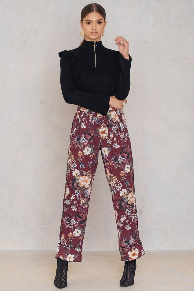 Spodnie Caya Bordeaux