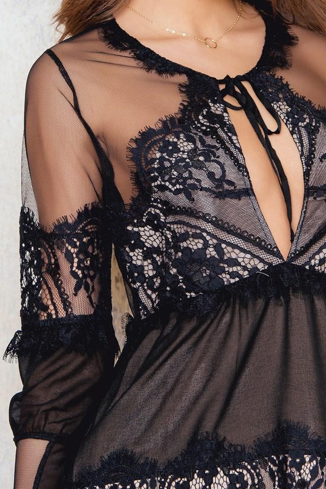 Alexa Mini Dress Black