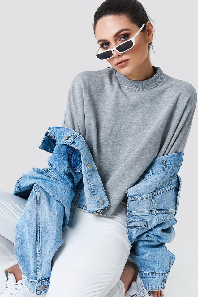 Raw Hem Batwing Sweatshirt NA-KD