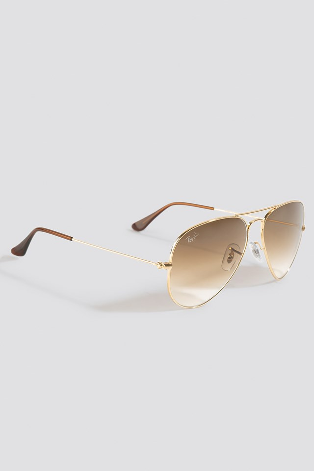 Aviator Large Metal Gold/Brown