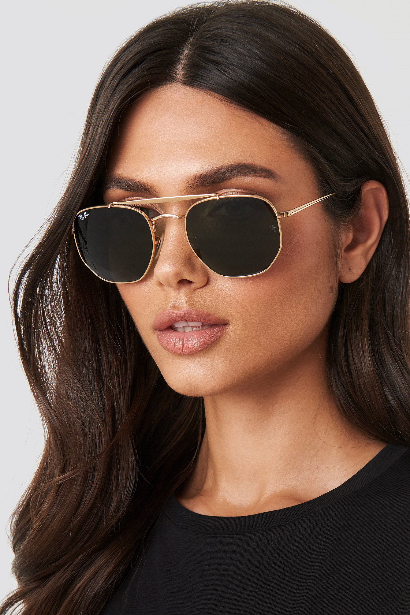 Ray Ban The Marshal Gold In Gold/Green