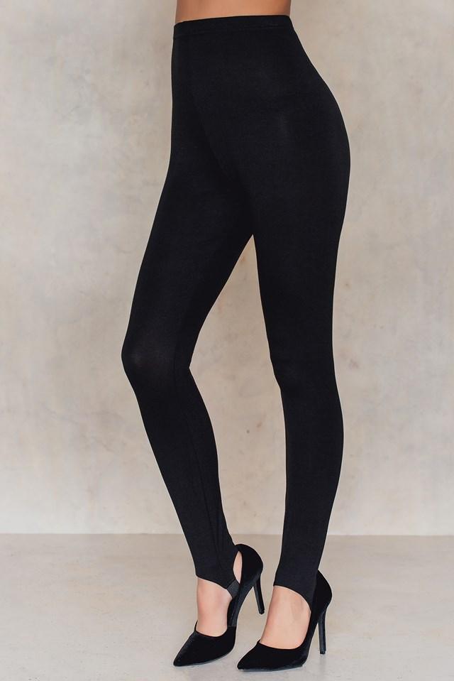 Basic Babe Stirrup Leggings Black