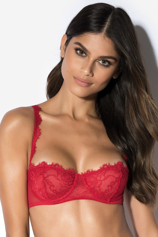 Be My Valentine Lace Bra Red