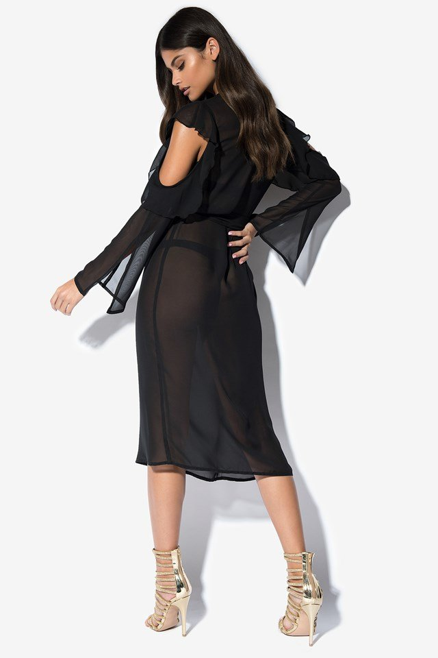 Cold Shoulder Caftan NA-KD.COM