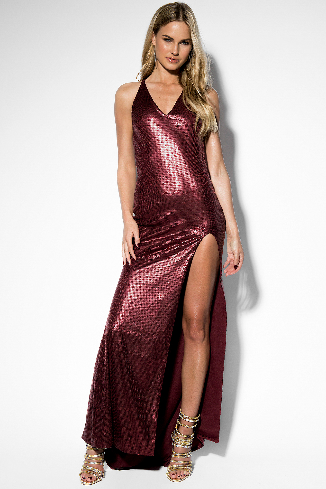 Long Sequin Dress  NA-KD.COM