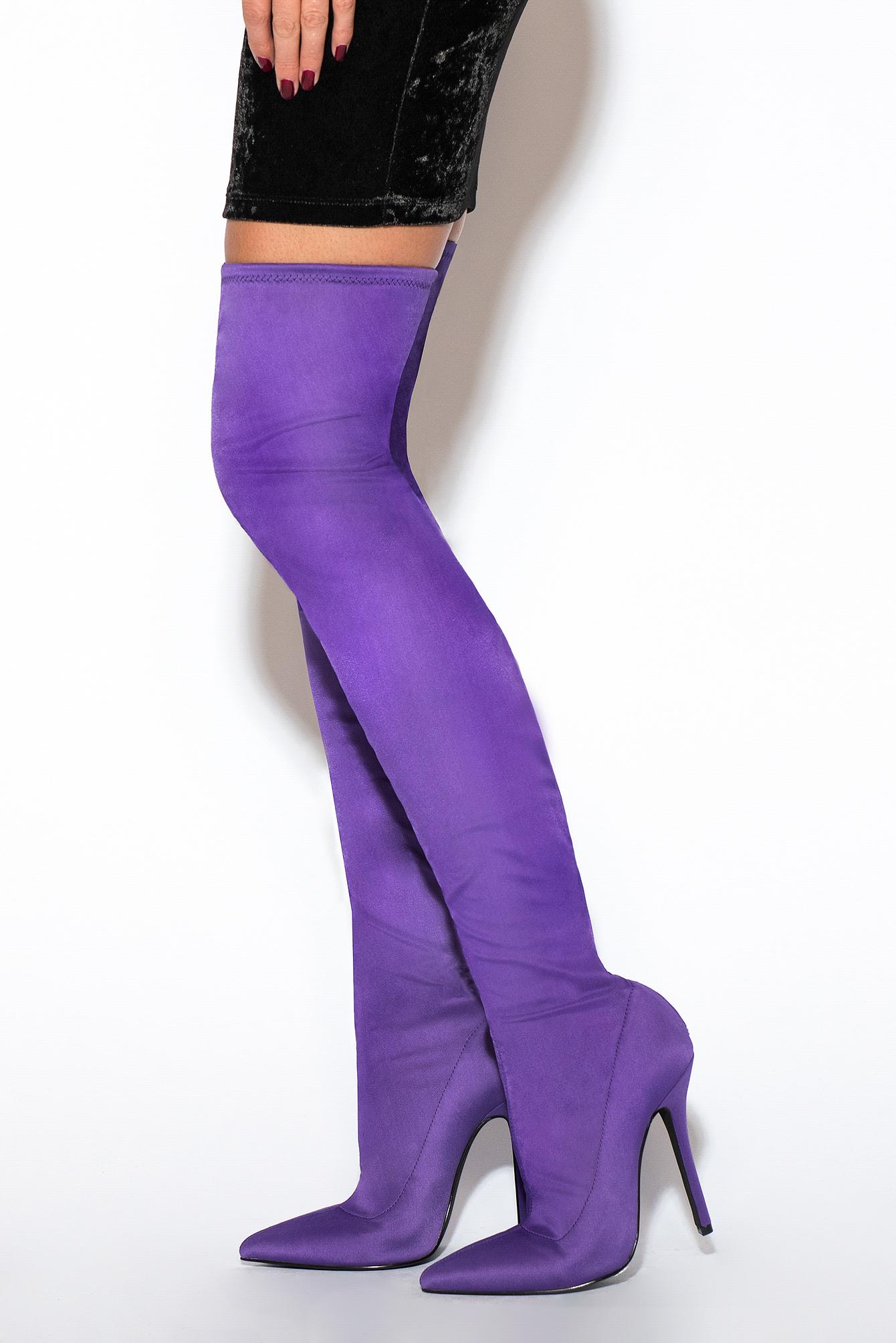 rebecca stella -  Overknee Boot - Purple