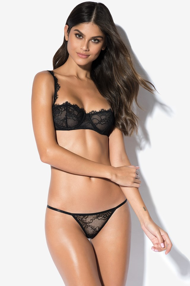 Be My Valentine Lace Pantie Black