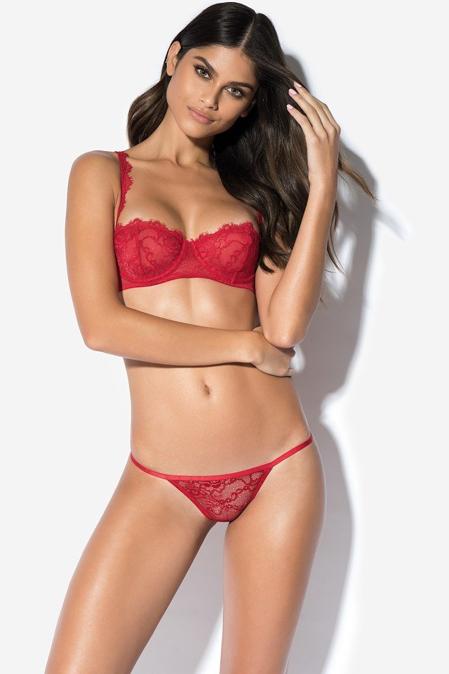Be My Valentine Lace Pantie Red