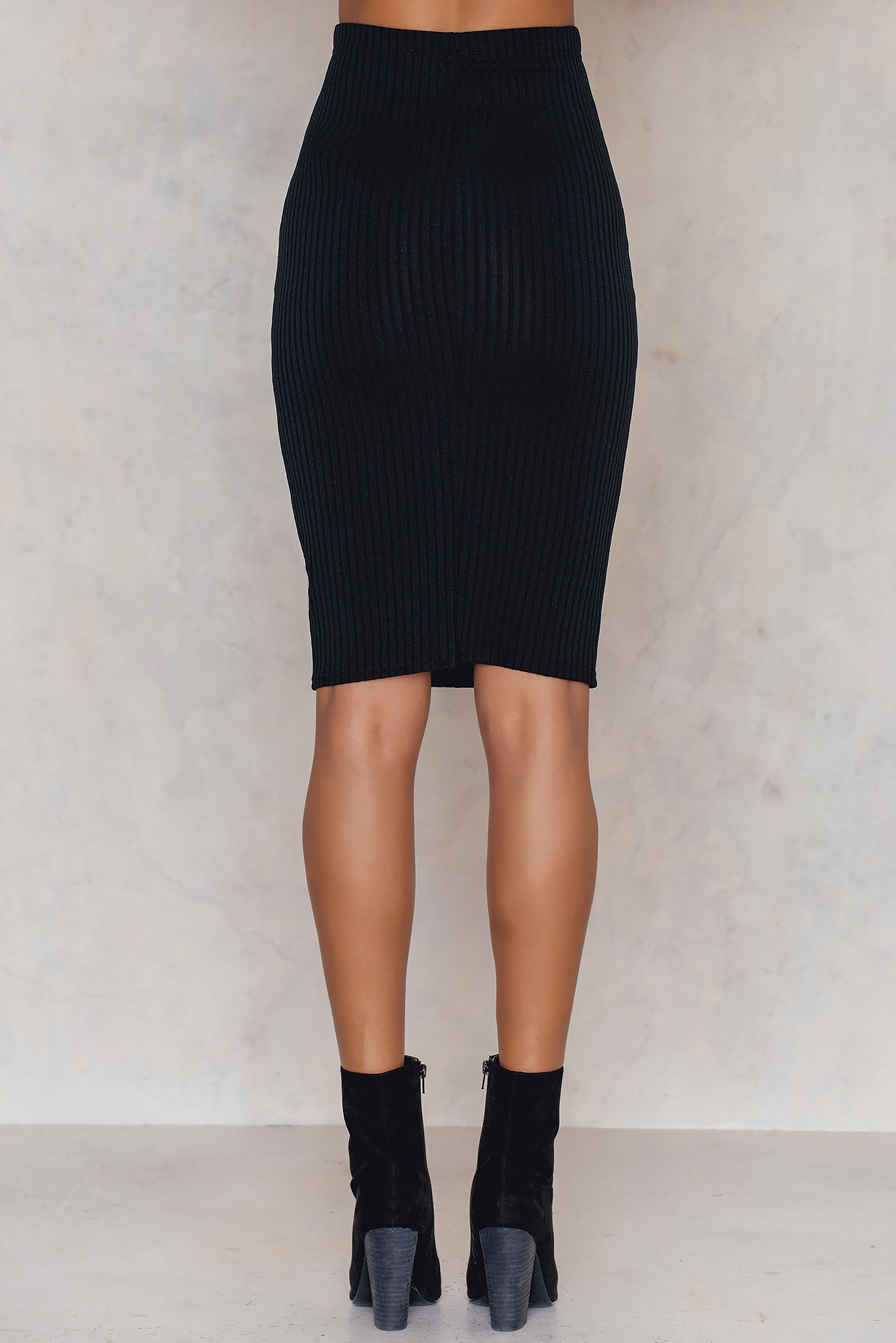 Ribbed the Right Way Midi Skirt NA-KD.COM