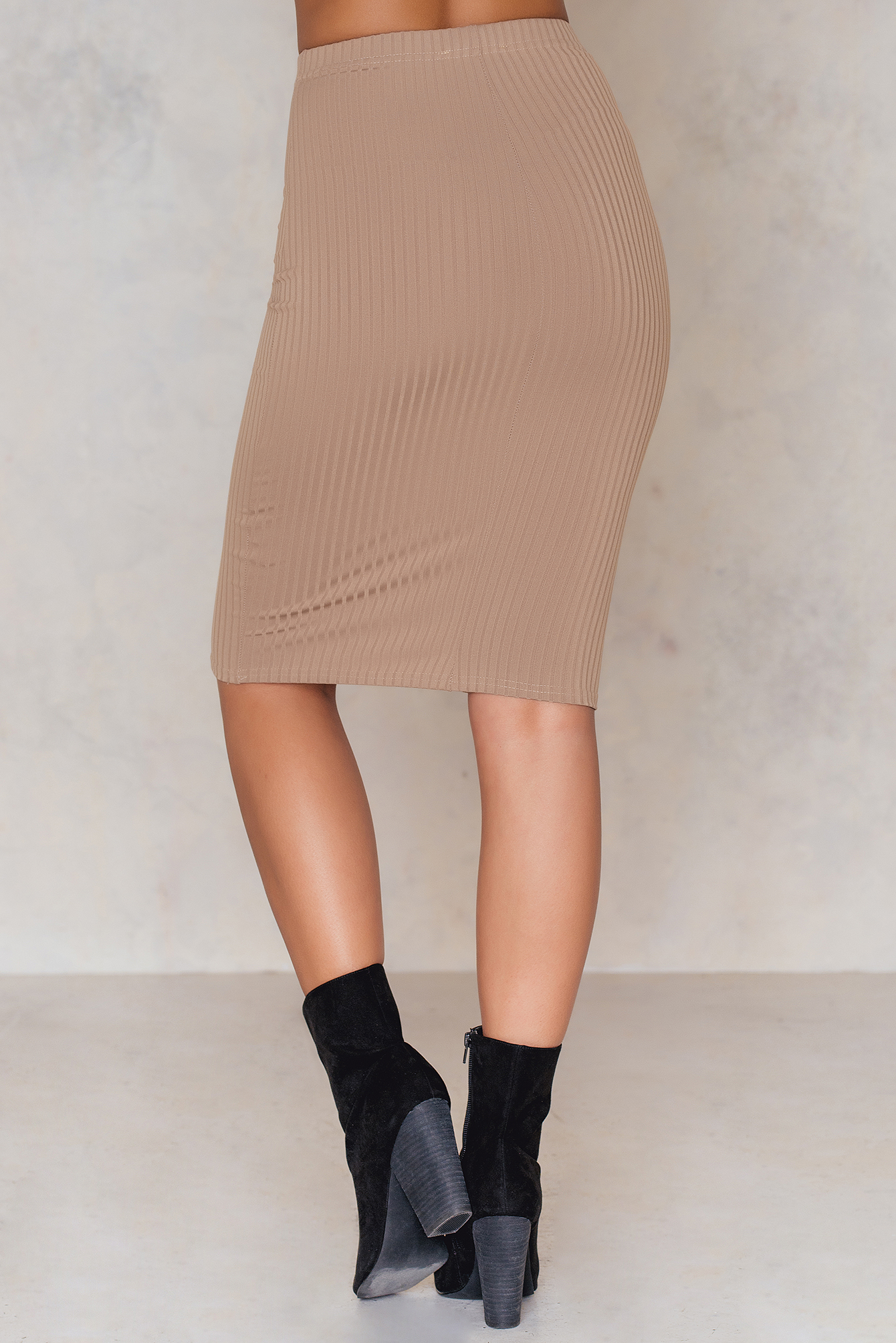 Ribbed the Right Way Midi Skirt NA-KD.COM