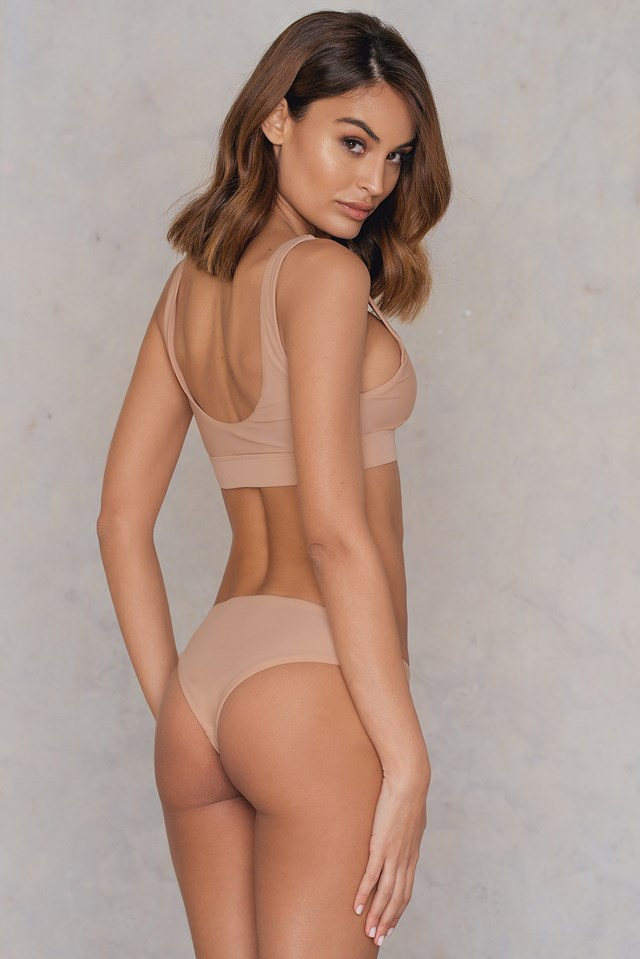 Sporty Bikini Top Nude