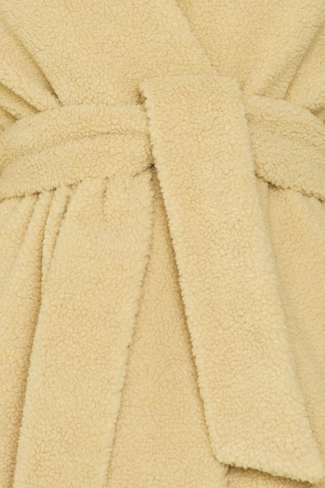 Teddy Long Coat Beige