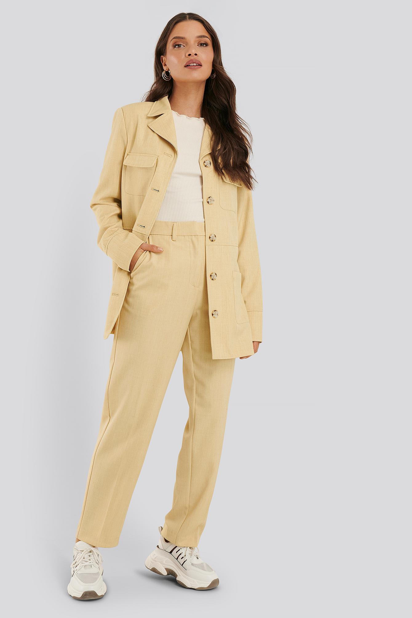 na-kd classic -  Anzughose - Yellow