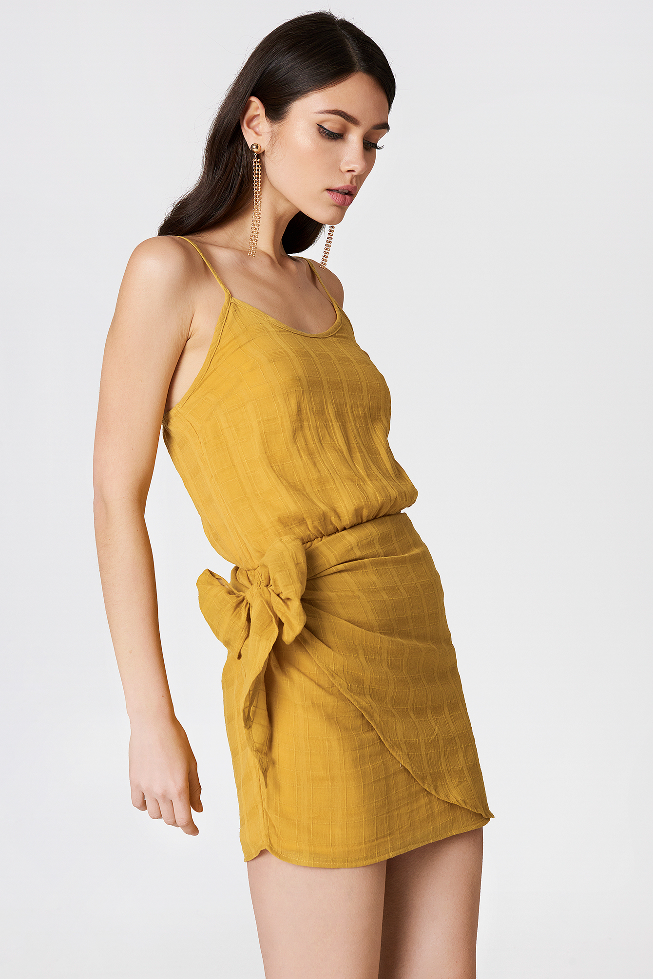 REVERSE ARABELLA DRESS - YELLOW