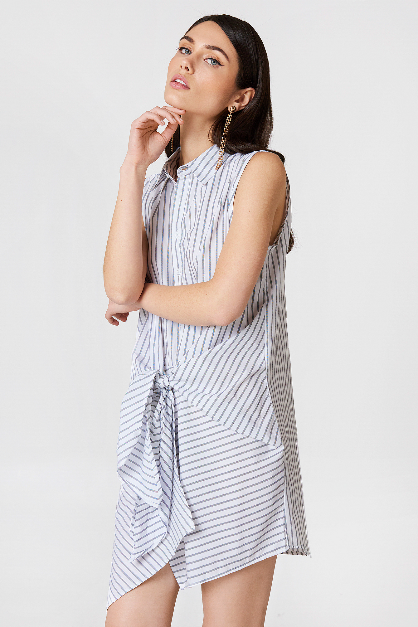 REVERSE WHEN WE WERE YOUNG DRESS - WHITE, MULTICOLOR