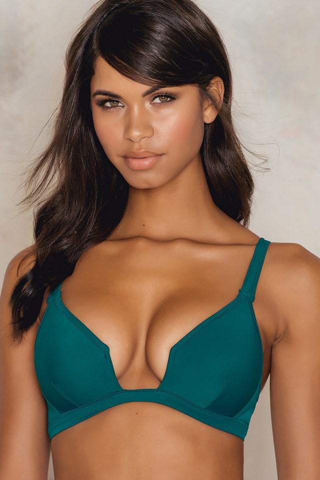 Structured Bikini Top Petrol Green