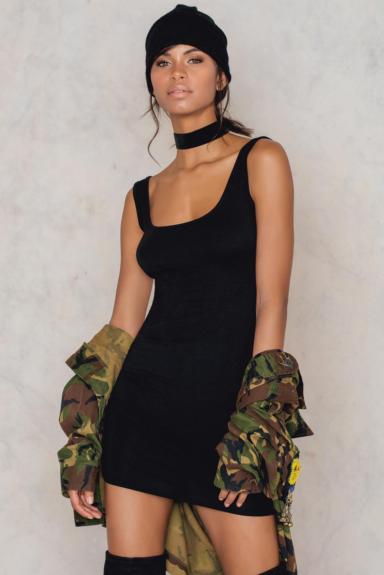 48e12b16be4 Get the Scoop Tank Mini Dress Black