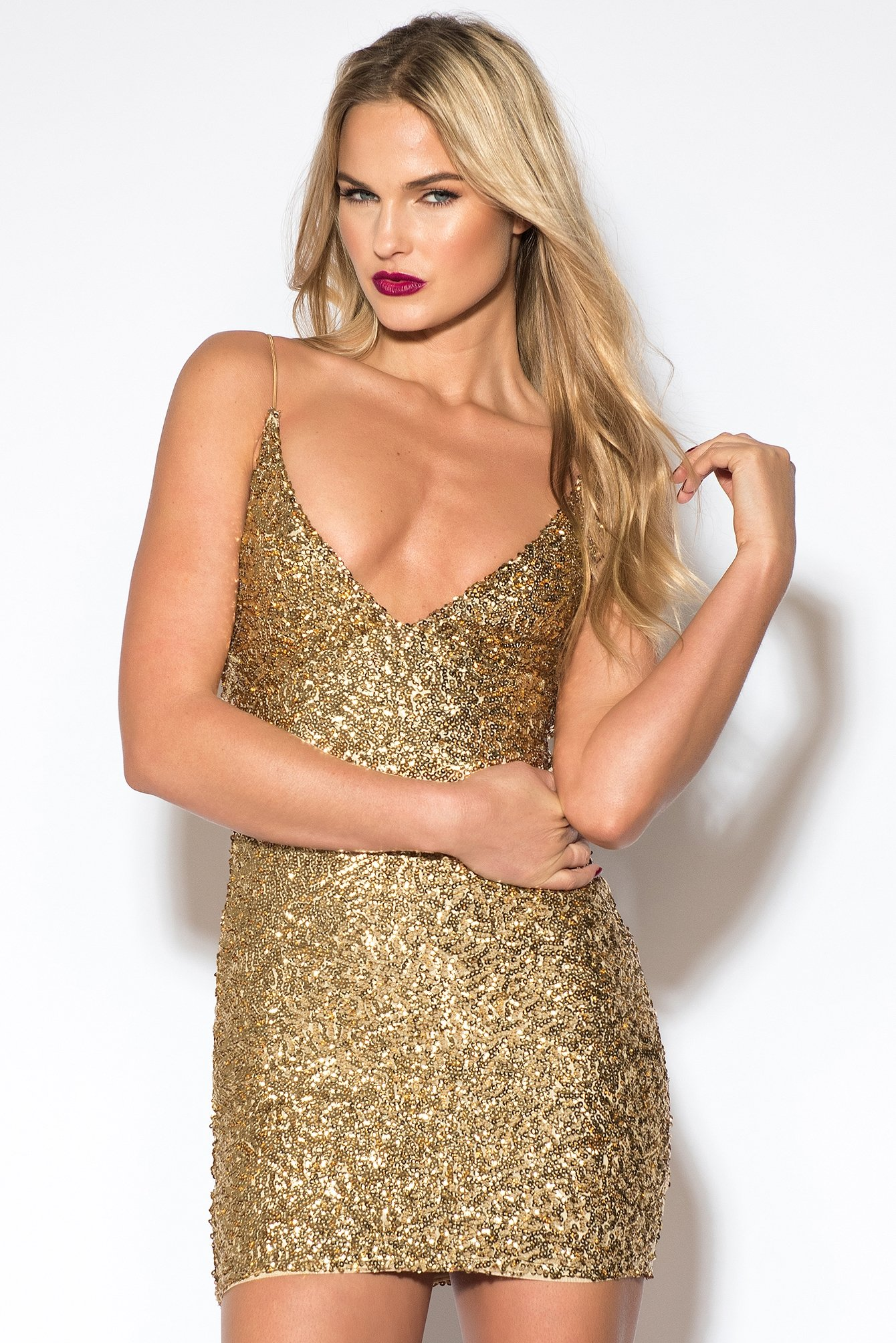 Sequin Short Dress NA-KD.COM