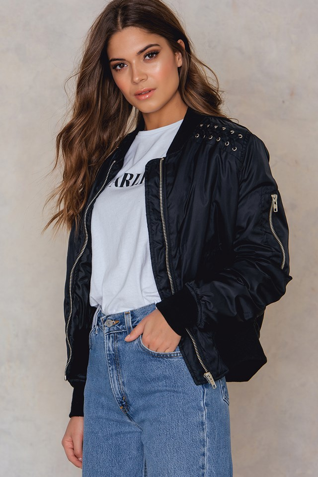 Kate lace-up jacket NA-KD.COM