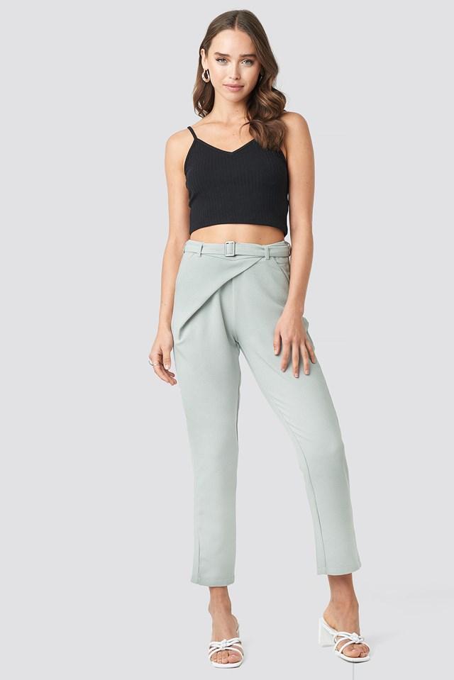 Kopertowe spodnie Delia Grey