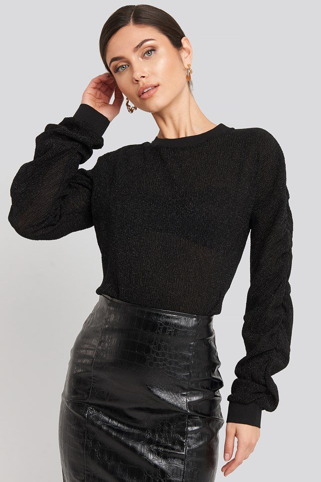 Elina Lurex Sweater Black