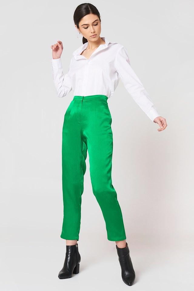 Ginny Shiny Pant Preppy Green