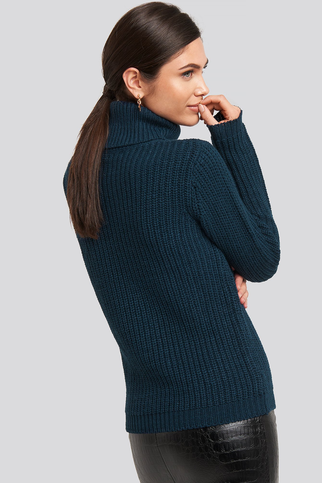 Navy Tinelle Rollneck Knit