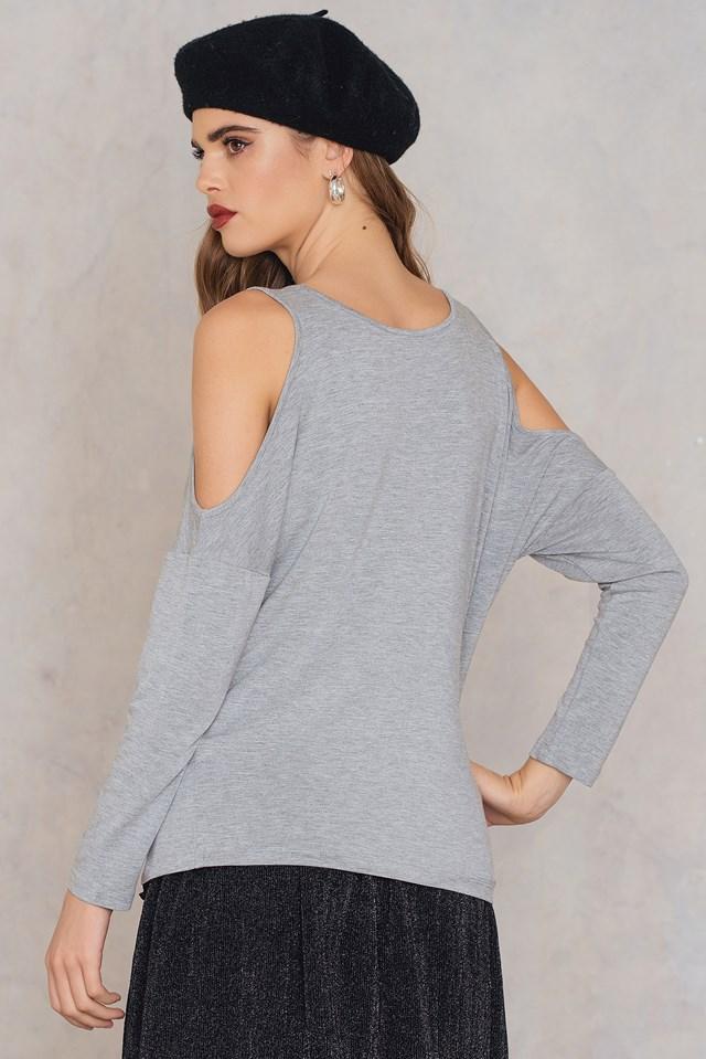 Alina l/s open shoulder NA-KD.COM