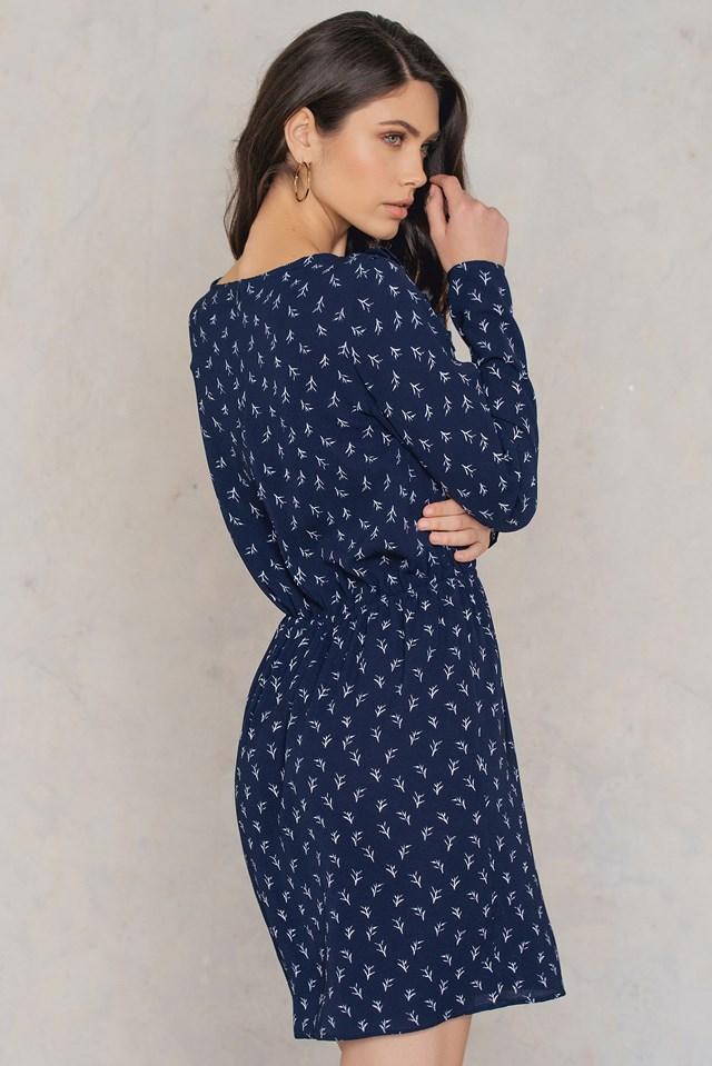 Kailyn Print Dress DK Navy