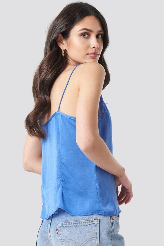 Stine Lace Singlet Stone Blue