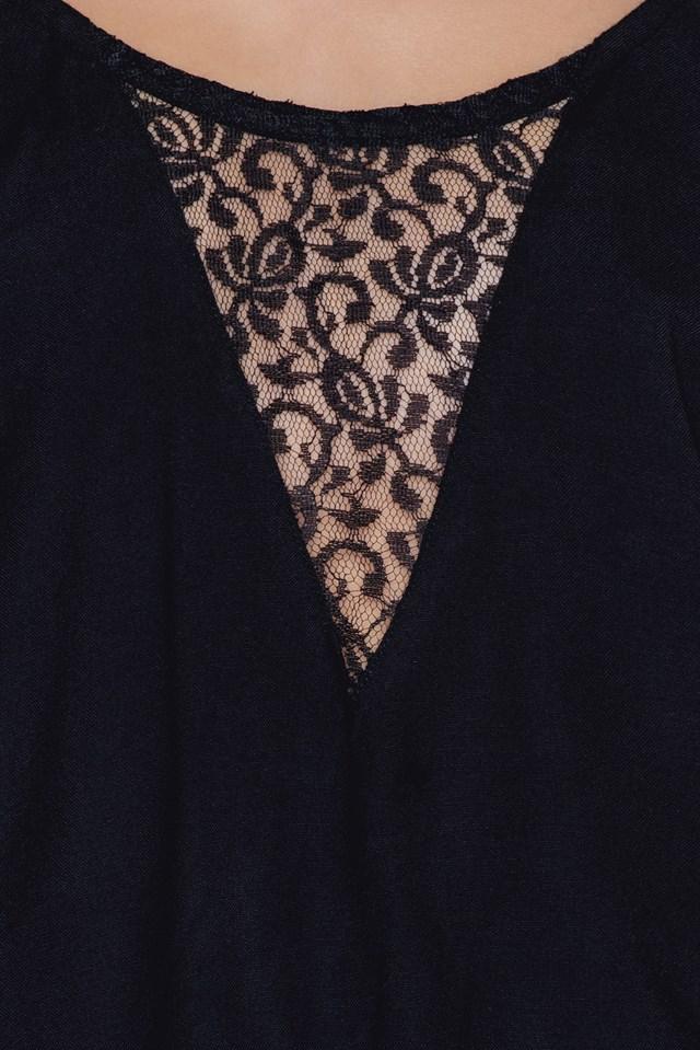Aniston lace singlet Black