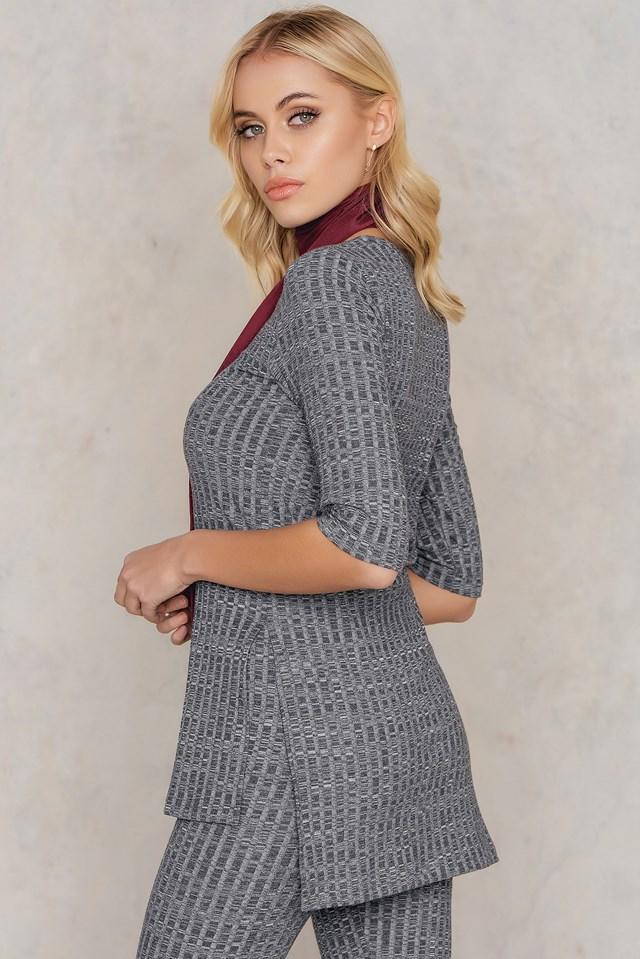 Anna ribb sweater NA-KD.COM