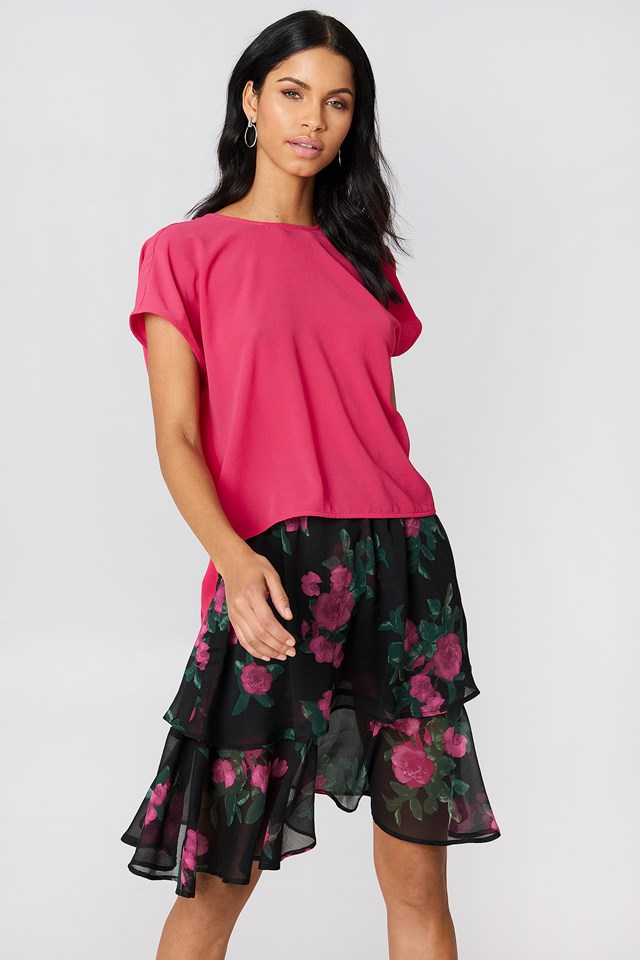 Back Knot Blouse Coral